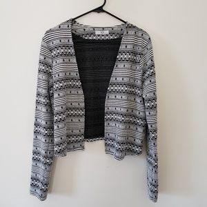 JACK by BB Dakota Aztec Blazer Open Front